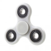 Tri Fidget Spinner Stress Reducer EDC Focus Toy for ADHD Autism - White