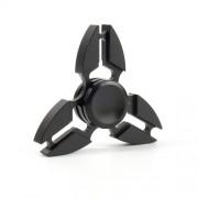 Fidget Spinner Παιχνίδι Αντιστρες Αλουμινίου με Τρεις Έλικες (Χρόνος περιστροφής 3 Λεπτά) - Μαύρο