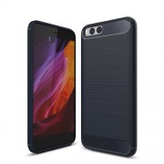 Carbon Fibre Brushed TPU Soft Case for Xiaomi Mi 6 - Dark Blue