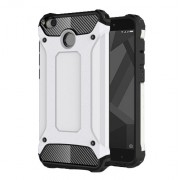 Armor Guard Plastic + TPU Hybrid Shell Case for Xiaomi Redmi 4X - White