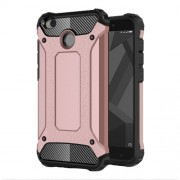 Armor Guard Plastic + TPU Hybrid Protective Case for Xiaomi Redmi 4X - Rose Gold