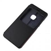 Δερμάτινη Θήκη Βιβλίο Smart Cover με Βάση Στήριξης για Huawei P10 Lite - Μαύρο