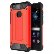Armor Guard Plastic + TPU Hybrid Case Cover for Huawei P10 Lite - Red