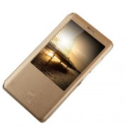 MOSHUO Δερμάτινη Θήκη Βιβλίο Smart Cover για Huawei Ascend Mate7 - Χρυσαφί
