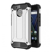 Tough Armor Υβριδική Θήκη Σιλικόνης TPU σε Συνδυαμό με Πλαστικό για Motorola Moto G5 - Ασημί