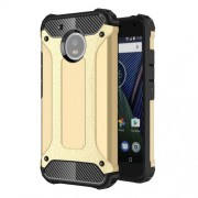Armor Guard Plastic + TPU Hybrid Back Case for Motorola Moto G5 - Gold