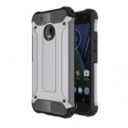 Armor Guard Plastic + TPU Hybrid Phone Case for Motorola Moto G5 Plus - Grey