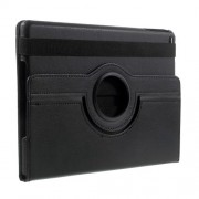 360 Degree Rotary Stand Litchi Grain Leather Case for iPad 9.7 (2017) / 9.7 (2018) - Black