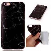 Marble Texture IMD Soft TPU Case for iPhone 6s Plus / 6 Plus - Black