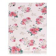 Patterned Leather Wallet Stand Cover for iPad 4/3/2 - Beautiful Rose