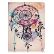 Patterned Leather Wallet Stand Shell for iPad 4/3/2 - Dream Catcher