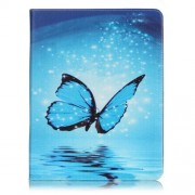 Patterned Leather Wallet Stand Phone Cover for iPad 4/3/2 - Dazzling Butterfly