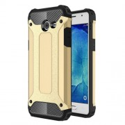 Hybrid Plastic + TPU Cover Armor Guard for Samsung Galaxy J5 (2017) - Gold