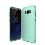 Θήκη Σιλικόνης TPU Carbon Fiber Brushed για Samsung Galaxy S8 - Γαλαζοπράσινο