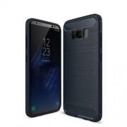 Θήκη Σιλικόνης TPU Carbon Fiber Brushed για Samsung Galaxy S8 - Σκούρο Μπλε