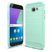 For Samsung Galaxy A5 (2017) Carbon Fiber Texture Brushed TPU Case Accessory - Cyan