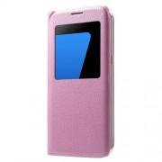 Δερμάτινη Θήκη Βιβλίο Smart Cover για Samsung Galaxy S7 edge G935 - Ροζ