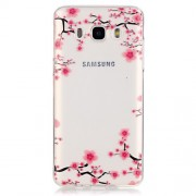 Transparent IMD TPU Phone Cover for Samsung Galaxy J5 (2016) - Plum Blossom