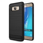 Θήκη Σιλικόνης TPU Carbon Fiber Brushed για Samsung Galaxy J5 (2016) SM-J510 - Μαύρο