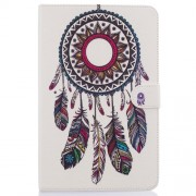 Patterned Leather Case for Samsung Galaxy Tab E 9.6 T560 - Tribal Dream Catcher