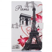 Patterned Leather Case for Samsung Galaxy Tab E 9.6 T560 - Eiffel Tower