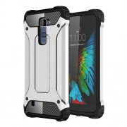 Armor Guard Plastic + TPU Hybrid Shell for LG K10 - Silver
