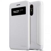 NILLKIN Sparkle Series Δερμάτινη Θήκη Smart Cover για LG K10 (2017) - Λευκό