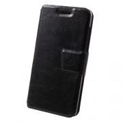 Δερμάτινη Θήκη Πορτοφόλι με Βάση Στήριξης για Xiaomi Redmi 4a - Μαύρο