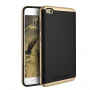 IPAKY Combo PC Frame + TPU Back Phone Case for Xiaomi Redmi 4a - Gold