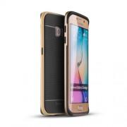 IPAKY Υβριδική Θήκη Συδυασμού Σιλικόνης TPU και Πλαστικού για Samsung Galaxy S6 Edge G925 - Χρυσαφί/Μαύρο