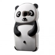 Cute 3D Panda Silicone Case Cover for Samsung Galaxy S7 G930 - Black