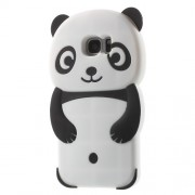 3D Cute Panda Silicone Case for Samsung Galaxy S7 edge G935 - Black