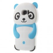3D Cute Panda Silicone Protector Case for Samsung Galaxy S7 edge G935 - Blue