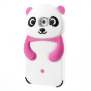 3D Panda Silicone Protective Shell for Samsung Galaxy S6 G920 - Rose