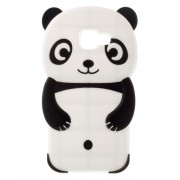 3D Cute Panda Silicone Case for Samsung Galaxy A3 SM-A310F (2016) - Black