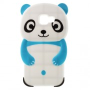 3D Cute Panda Silicone Phone Case for Samsung Galaxy A3 SM-A310F (2016) - Blue