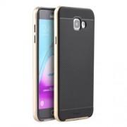 IPAKY Υβριδική Θήκη Συδυασμού Σιλικόνης TPU και Πλαστικού για Samsung Galaxy A5 SM-A510F (2016) - Χρυσαφί/Μαύρο