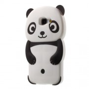 3D Panda Silicone Protective Case for Samsung Galaxy A5 SM-A510F (2016) - Black