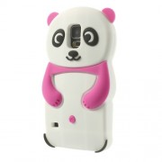 3D Cute Panda Soft Silicon Case for Samsung Galaxy S5 G900 G900H - Rose