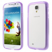 For Samsung Galaxy S4 I9505 I9502 I9500 Backless TPU Bumper Case - Purple