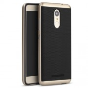 IPAKY Υβριδική Θήκη Συδυασμού Σιλικόνης TPU και Πλαστικού για Xiaomi Redmi Note 3 - Χρυσαφί/Μαύρο