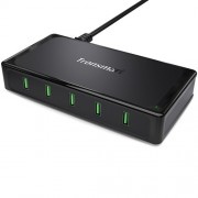 TRONSMART 90W Φορτιστής με 5 Θύρες USB 2.0 για Γρήγορη Φόρτιση για Όλες τις Ηλεκτρονικές Συσκευές - Μαύρο