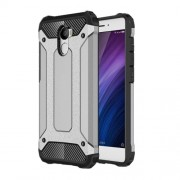 Armor Guard Hybrid Protective Phone Case (Plastic + TPU) for Xiaomi Redmi 4 - Grey
