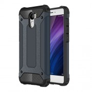 Hybrid Heavy Duty Rugged Cellphone Case (Plastic + TPU) for Xiaomi Redmi 4 - Dark Blue