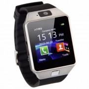 DZ09 Smart Watch με Υποδοχή Κάρτας Sim και Οθόνη Αφής 1.56 ίντσες και Κάμερα - Ασημί/Μαύρο