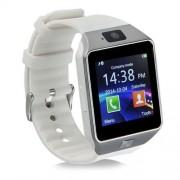 DZ09 Smart Watch με Υποδοχή Κάρτας Sim και Οθόνη Αφής 1.56 ίντσες και Κάμερα - Ασημί/Λευκό