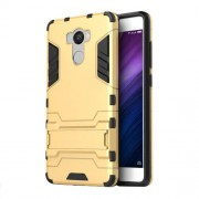 Cool Guard Kickstand PC TPU Cellphone Cover for Xiaomi Redmi 4 / 4 Prime / Pro - Gold