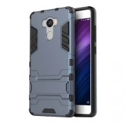 Cool Guard Kickstand PC TPU Hybrid Shell for Xiaomi Redmi 4 / 4 Prime / Pro - Dark Blue