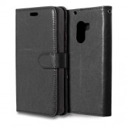 3 Card Slots Leather Flip Stand Phone Case for Lenovo Vibe X3 Lite/A7010/K4 Note - Black