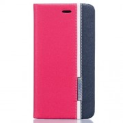 Two-color Leather Card Holder Case for ZTE Blade V7 Lite - Rose